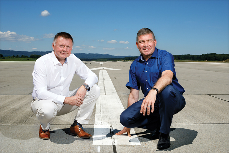 Starkes Duo: Flughafendirektor Ladislav Ondrich und Head of Marketing Dieter Pammer
