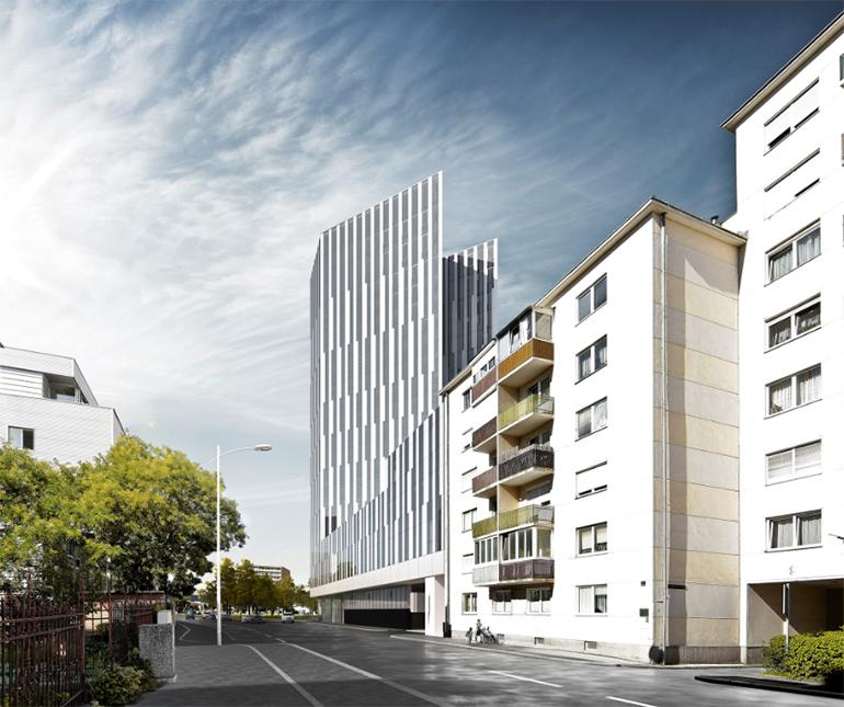 Mit 66 Metern wird der Bulgari Tower die neue Landmark an der Wienerstraße