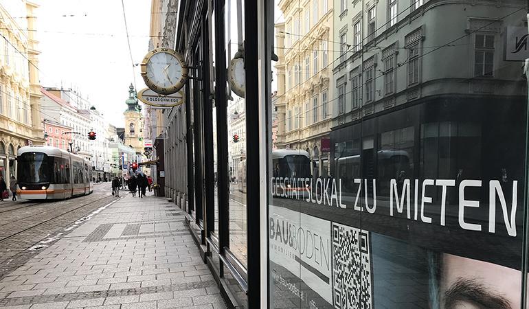 Nachmieter gesucht: Leerstand in der Schmidtorgasse zwischen Taubenmarkt und Hauptplatz