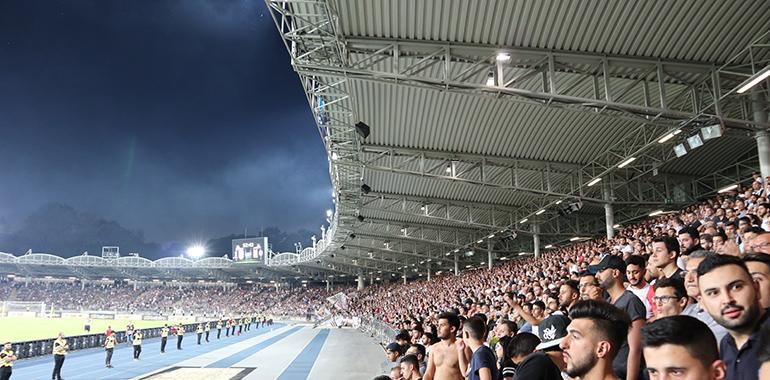 Das Linzer Stadion beim Europacup-Match LASK- gegen Besiktas Istanbul