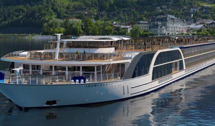 Europas größtes Flusskreuzfahrtsschiff bekommt in Linz seinen letzten Schliff