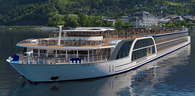 135 Meter lang, 22 Meter breit – damit ist die Ama Magna Europas größtes Kreuzfahrtsschiff