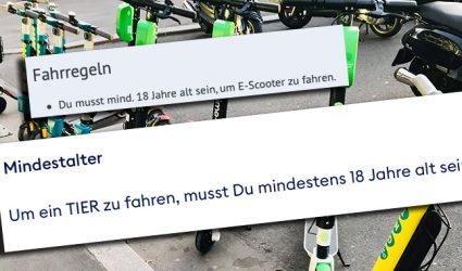 Immer mehr Kids nützen die E-Leihscooter, obwohl die Anmietung erst ab 18 erlaubt ist