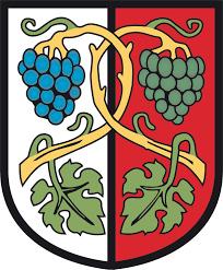 Das Wappen Aschachs erinnert an die große Vergangenheit als Weinbauregion.