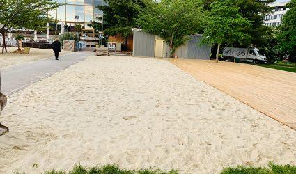 Die Linzer Sandburg wächst um weitere 400 Quadratmeter