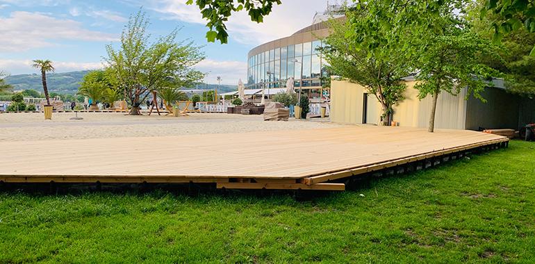 Des einen Freud', des andern Leid': Der Grünbereich im Donaupark wurde weiter angeknabbert.