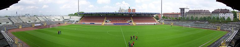Das Stadion an dr Grünwalder Straße im aktuellen Zustand (Foto: Ampfinger).
