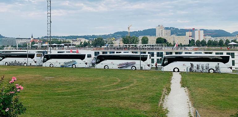 Ein Bild, das bald der Vergangenheit angehören wird: der Donaupark als Busbahnhof.