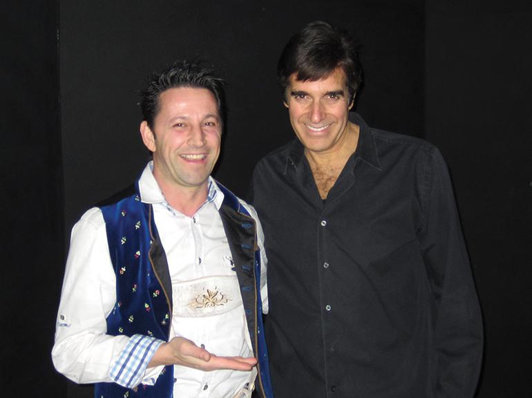 """In Las Vegas gab es ein Treffen mit dem """"Magic Godfather"""" David Copperfield."""