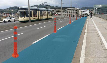 Dritte Fahrspur der Nibelungenbrücke als temporärer Radweg im Sommer 2020?