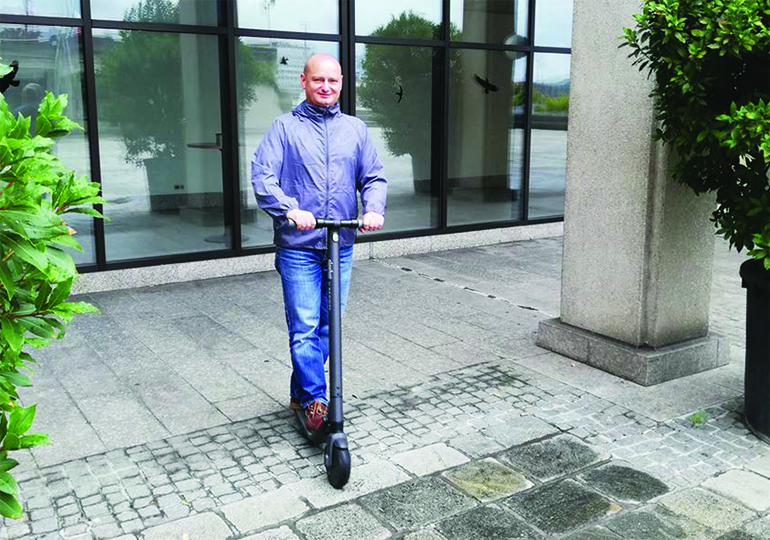 Stadtrat Markus Hein will den E-Scooter Verkehr in der City in geregeltere bahnen lenken.