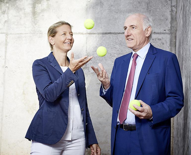 """""""Wir ergänzen uns perfekt"""": Sandra Reichel mit ihrem Vater Peter-Michael. (Foto: GEPA)"""
