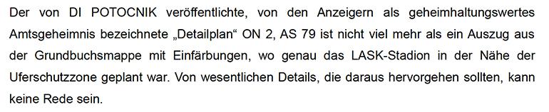 Die Stellungnahme der Staatsanwaltschaft zum Vorwurf des Amtsmissbrauchs.