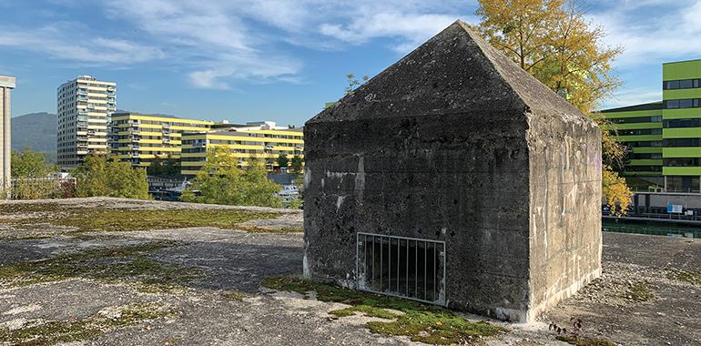 Weltkriegs-Bunkeranlagen beim Winterhafen